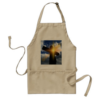 Christian Cross at Easter Sunrise Service Apron