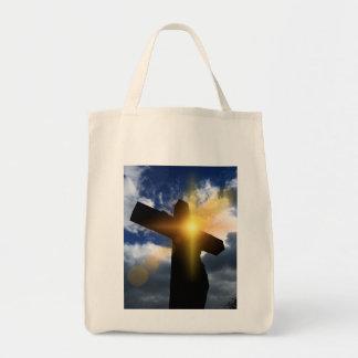 Christian Cross at Easter Sunrise Service Canvas Bag