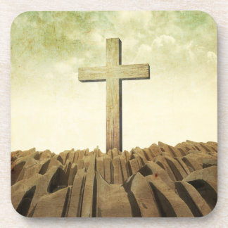 Christian Cross Beverage Coaster