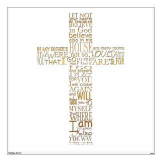 Christian Cross Bible Verses - Wall Decals