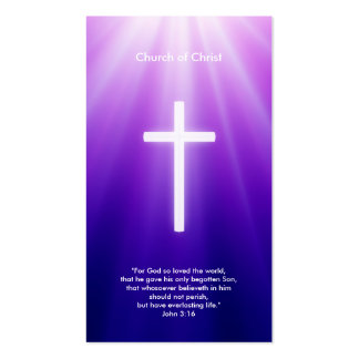 Christian Cross | Blue Rays Business Card