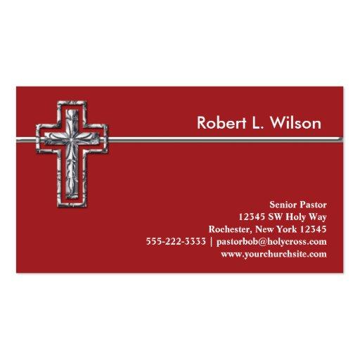 christian cross business cards pack of standard business