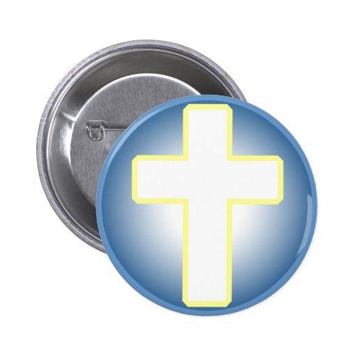 Christian Cross Button