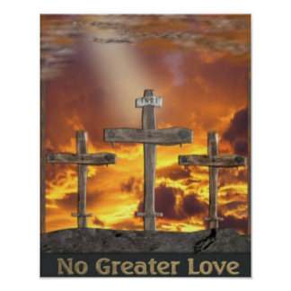 Christian cross Calvary Poster
