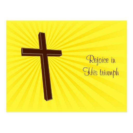 Christian Cross card Post Card
