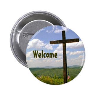 Christian Cross Church Greeters Pin