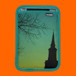 Christian Cross Church Steeple at Twilight iPad Mini Sleeves