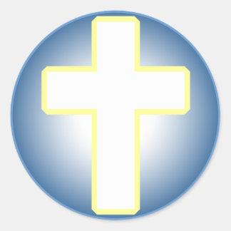 Christian Cross Classic Round Sticker