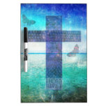 Christian Cross Contemporary  art Dry Erase Boards