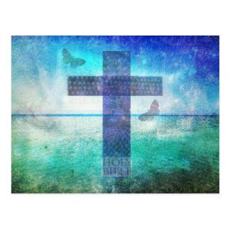 Christian Cross Contemporary  art Postcard