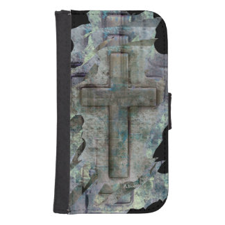 christian cross design on cell phone protectors galaxy s4 wallets