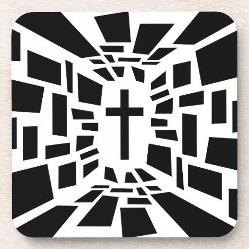 Christian Cross Drink Coaster