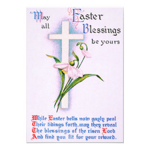 Christian poems easter gifts on zazzle christian cross easter lily poem invitation negle Images