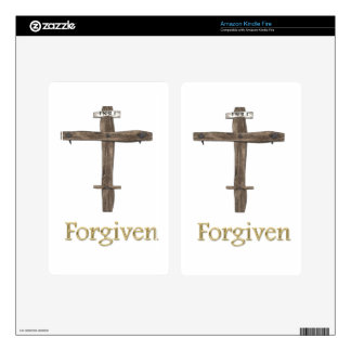 """Christian Cross """"forgiven"""" Decals For Kindle Fire"""