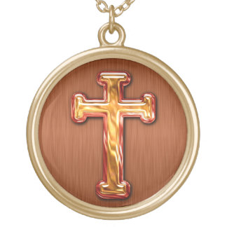 Christian Cross Gold Plated Necklace