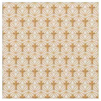 Christian Cross Grill Pattern - Small Ratio Fabric