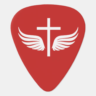 Christian cross guitar pick