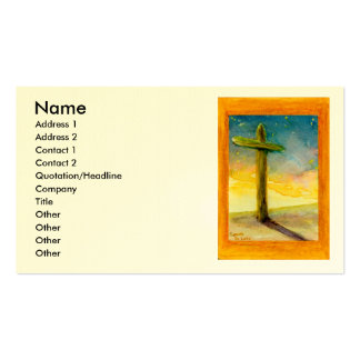 Christian Cross in Landscape Double-Sided Standard Business Cards (Pack Of 100)