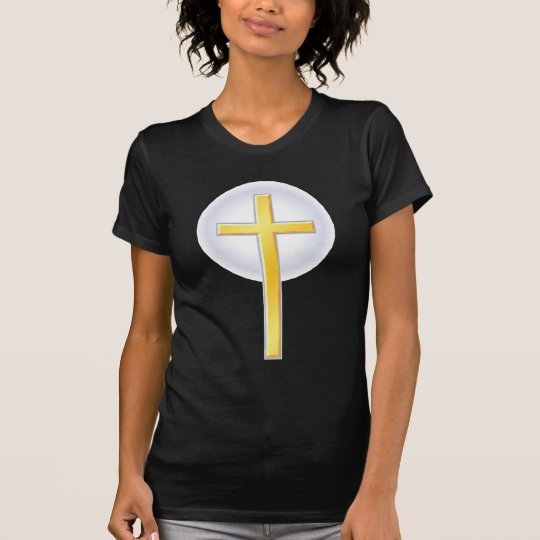 Christian Cross in Yellow T-Shirt