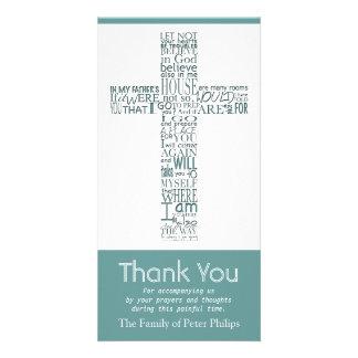 Christian Cross John 14:02 - Sympathy Thank You 1 Photo Card