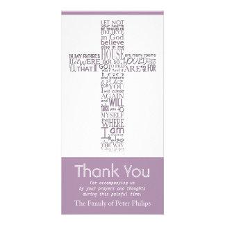 Christian Cross John 14:02 - Sympathy Thank You 5 Card