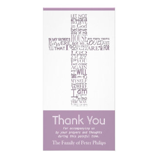 Christian Cross John 14:02 - Sympathy Thank You 5 Photo Card