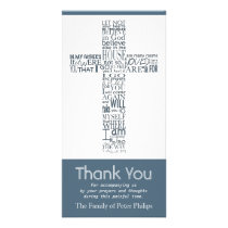Christian Cross John 14:02 Sympathy Thank You 7 Card