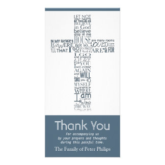 Christian Cross John 14:02 - Sympathy Thank You 7 Card