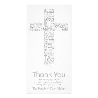 Christian Cross - John 14:02 - Sympathy Thank You Photo Greeting Card
