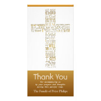 Christian Cross John 14 Sympathy Thank You 2 Card