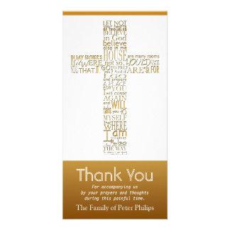 Christian Cross John 14 Sympathy Thank You 2 Card