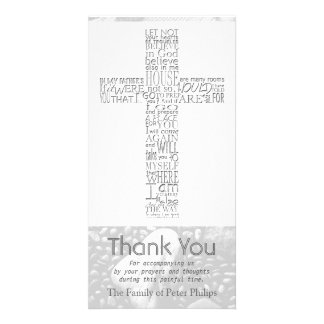Christian Cross John 14 Sympathy Thank You 3 Card