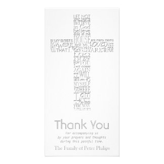 Christian Cross John 14 Sympathy Thank You Card