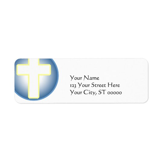 Christian Cross Label