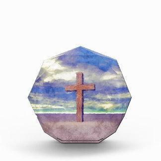 Christian Cross Landscape Acrylic Award