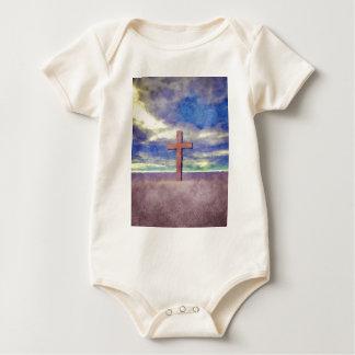 Christian Cross Landscape Baby Bodysuit