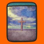 Christian Cross Landscape iPad Sleeve