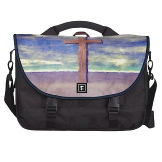 Christian Cross Landscape Laptop Commuter Bag