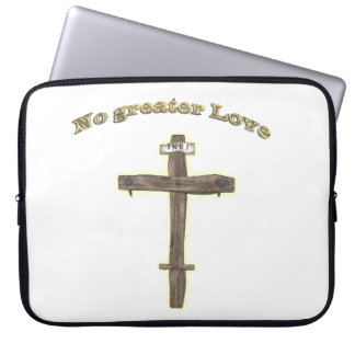 Christian cross laptop computer sleeve