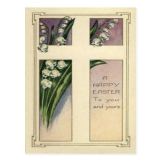 Christian Cross Lily Of The Valley Postcard