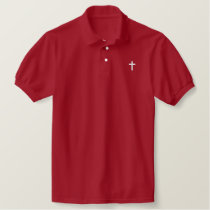 Christian Cross Logo Fitted Polo