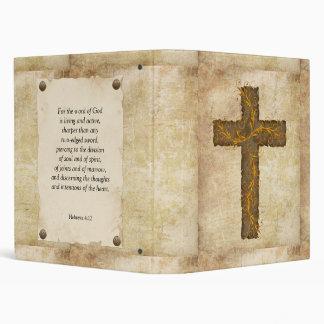 Christian Cross Notebook 3 Ring Binder