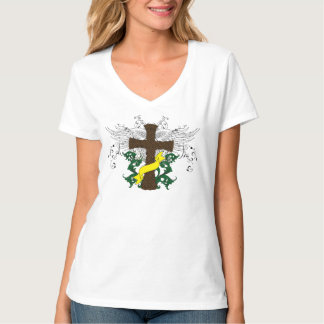 Christian Cross of Christ With Heavenly Wings T-Shirt