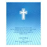 "Christian Cross on blue background 4.5"" X 5.6"" Flyer"