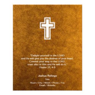 "Christian Cross on gold background 4.5"" X 5.6"" Flyer"