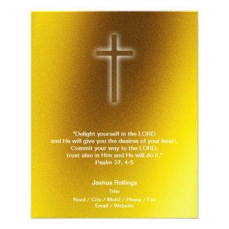 Christian Cross on gold background Flyer