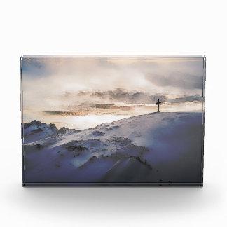 Christian Cross On Mountain Acrylic Award