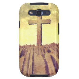 Christian Cross On Mountain Galaxy S3 Covers