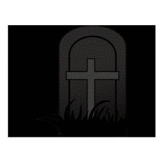 CHRISTIAN CROSS ON TOMBSTONE POSTCARD