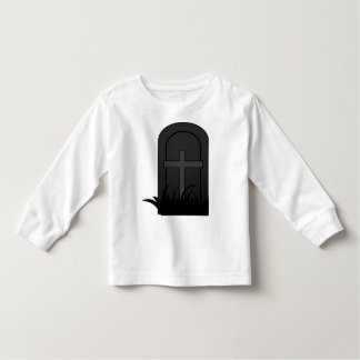 CHRISTIAN CROSS ON TOMBSTONE TODDLER T-SHIRT
